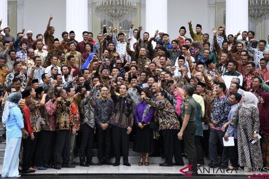Presiden Jokowi silaturahmi dengan nelayan