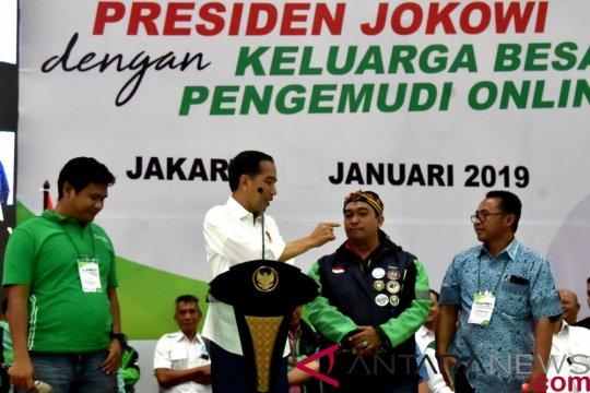 Jokowi sebut ojek daring pekerjaan mulia