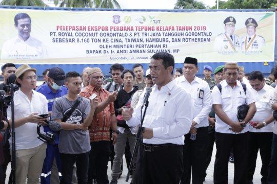 Mentan lepas ekspor tepung kelapa 8.160 ton dari Gorontalo