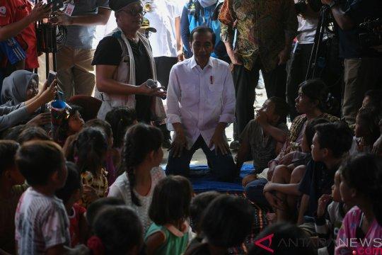 Presiden kunjungi lokasi pengungsian penyintas gelombang tsunami Selat Sunda