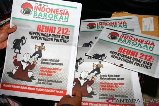 Bawaslu Palembang temukan 76 koli tabloid Indonesia Barokah