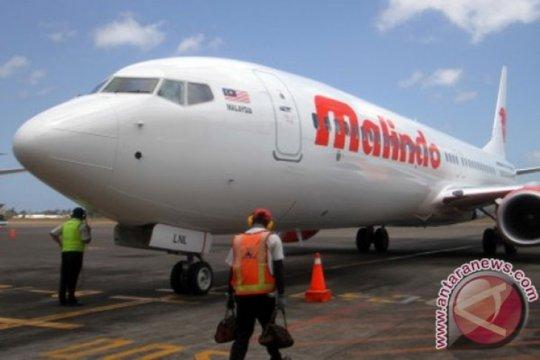 Pesawat Malindo keluar landasan pacu di Bandara Husein Sastranegara