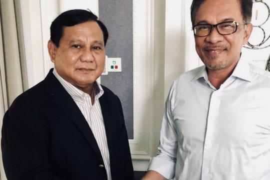 Anwar Ibrahim temui Prabowo Subianto