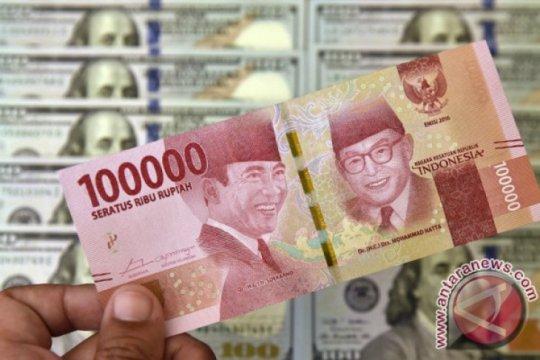 Rupiah menguat 12 poin, di atas Rp14.000
