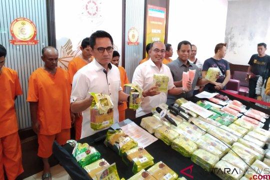 Bareskrim sita 50 kg sabu Malaysia berbungkus teh cina