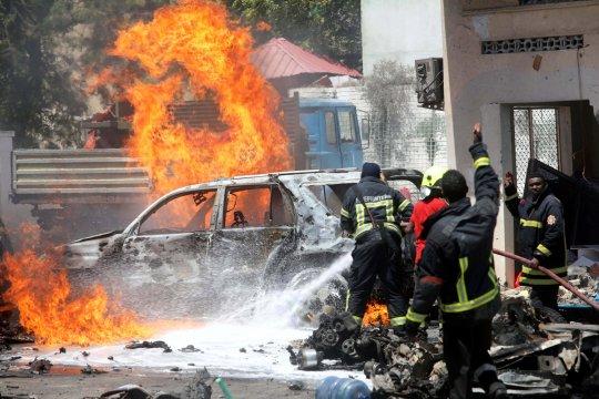 Bom mobil di pusat perbelanjaan Somalia tewaskan dua orang