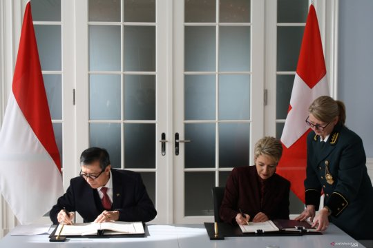 Indonesia-Swiss tanda tangani Perjanjian Mutual Legal Assistance