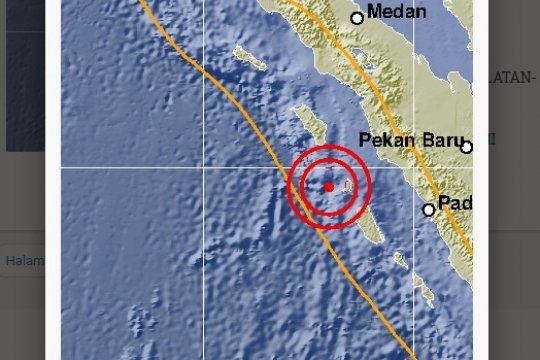 Gempa 6,1 SR guncang Nias Selatan