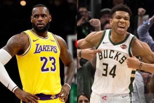 LeBron James-Giannis Antetokounmpo pilih rekan setim All-Star
