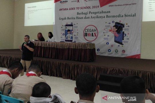 LKBN Antara sosialisasi cegah berita hoaks di SMKN I Surabaya