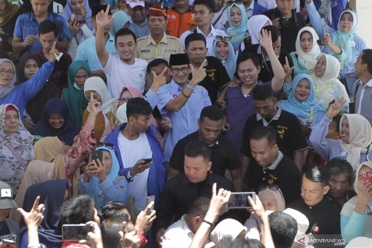 Kampanye Sandiaga Uno di Bengkulu