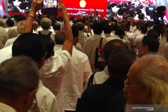 Purnawirawan TNI-Polri deklarasikan dukungan kepada Jokowi-Ma'ruf