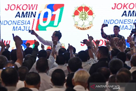 Presiden Jokowi silaturahmi dengan purnawirawan TNI dan Polri