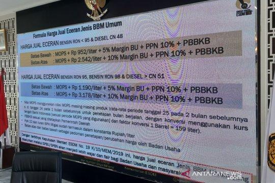 Kementerian ESDM umumkan formula harga jual eceran jenis BBM nonsubsidi