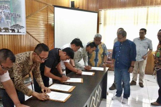 Tujuh pemegang konsesi Riau sepakat ikut konservasi gajah