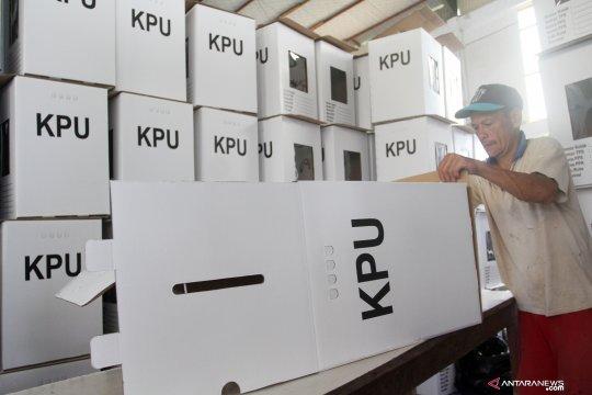 KPU OKU kekurangan 124 kotak suara pemilu