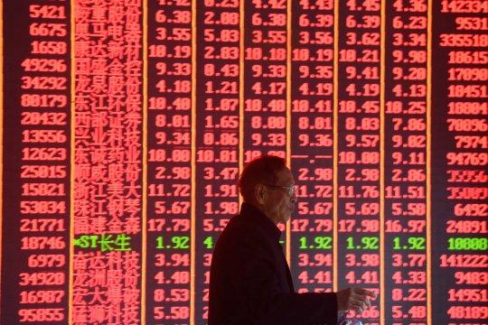 Saham China ditutup jatuh, Indeks Shanghai turun 0,83 persen