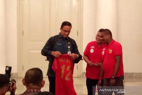 Anies lepas Kontingen Atlet Futsal Tuna Rungu Indonesia