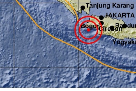 Gempa magnitudo 5,9 guncang pesisir selatan Jawa Timur