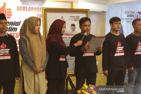 Relawan Milenial Muslim Bersatu deklarasikan dukungan kepada Jokowi-Ma'ruf Amin