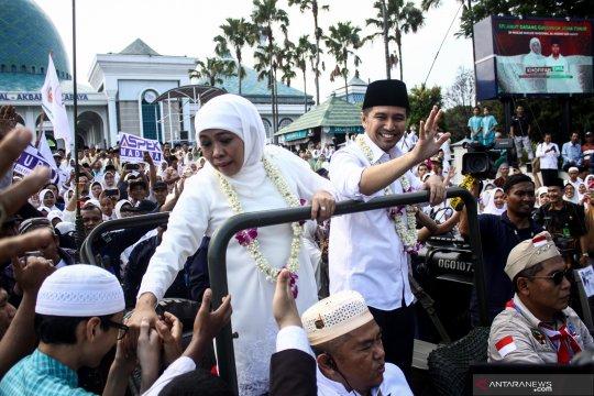 Ribuan pelajar berebana sambut kedatangan Khofifah-Emil