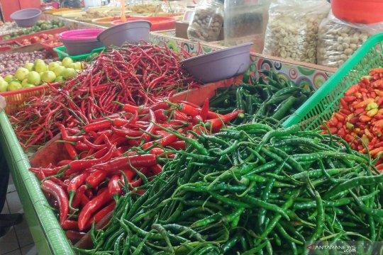 Harga cabai di Pasar Rawamangun anjlok
