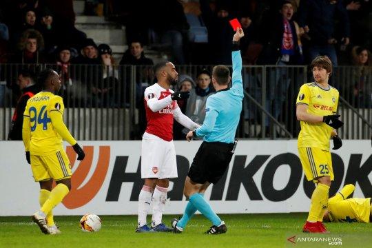 Liga Europa: Lacazette dikartu merah, Arsenal takluk 0-1 dari BATE