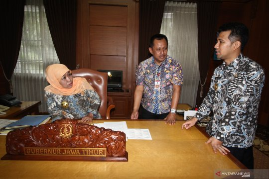 Hari pertama kerja Gubernur Jawa Timur