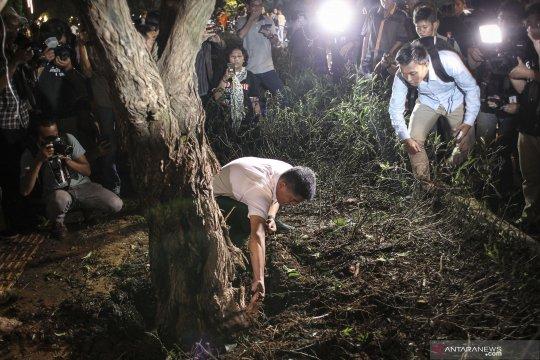 Inilah penampakan TKP ledakan di Parkir Timur Senayan