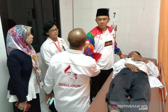 Direktur TKN kunjungi korban ledakan dekat Nobar Debat Capres