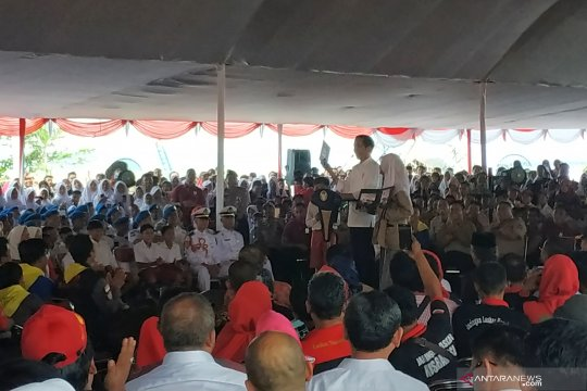 Presiden uji pengetahuan kebencanaan pelajar Pandeglang