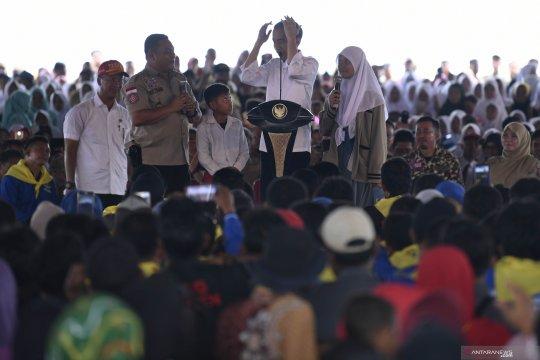Jokowi minta warga pesisir Pandeglang harus siaga bencana