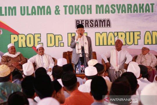 Kiai Ma'ruf sebut ada beberapa ulama Banten alihkan dukungannya