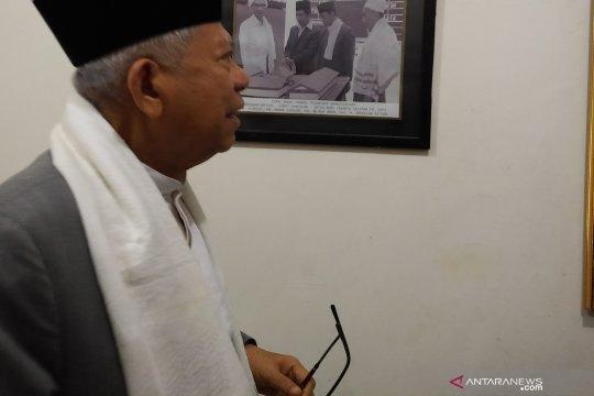 Ma'ruf: Jokowi hanya lengkapi pernyataan Prabowo soal kepemilikan lahan