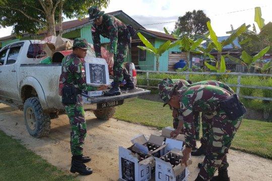 TNI gagalkan penyelundupan miras asal Malaysia di Sintang Kalbar