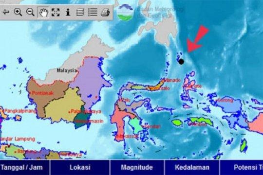 Gempa magnitudo 5 Kepulauan Talaud tak berpotensi tsunami, kata BMKG