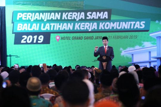 Presiden Jokowi targetkan bangun 3.000 BLK pesantren tahun depan