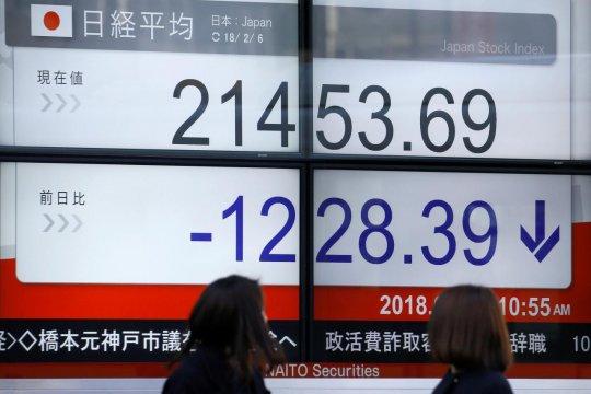 Bursa Tokyo dibuka rontok, setelah saham-saham Wall Street jatuh