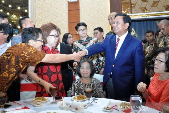 Prabowo menyapa masyarakat Sumatera Utara