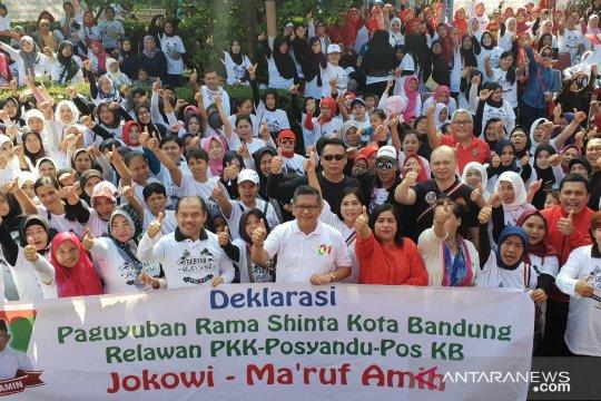 Paguyuban Rama Shinta deklarasikan dukungan kepada Jokowi-Ma'ruf