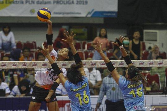 Tim voli putri Jakarta BNI 46 kalahkan tim Bank BJB
