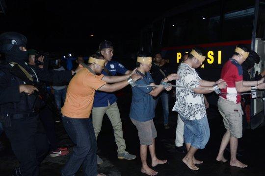 Pemindahan tahanan Lapas Rajabasa Lampung