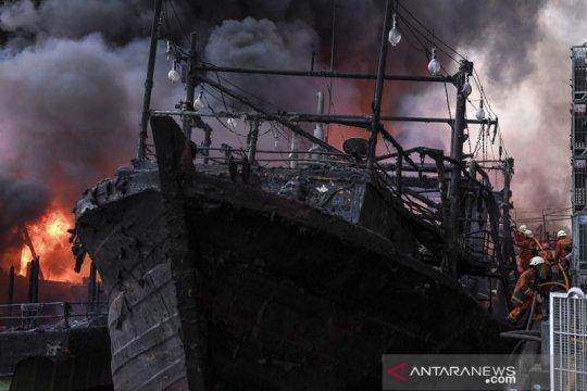 Polisi periksa 18 saksi terkait kebakaran kapal nelayan