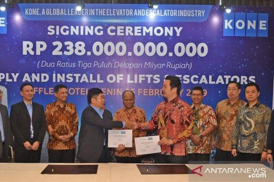 Pollux Habibie tandatangani kontrak Rp238 miliar dengan Kone