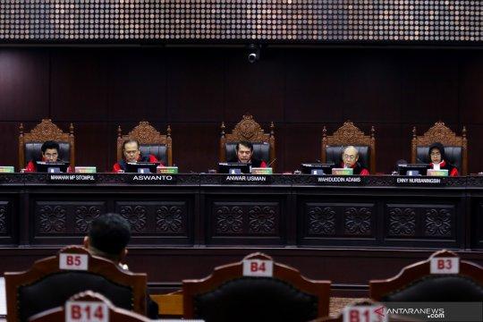 Sidang putusan perkara Mahkamah Konstitusi
