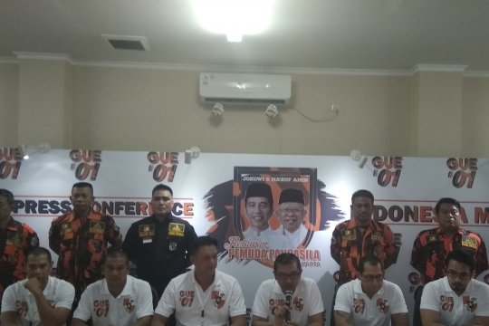 Relawan Pemuda Pancasila nyatakan dukungan bagi Jokowi-KH Ma'ruf Amin