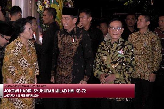 Jokowi hadiri syukuran milad HMI ke 72