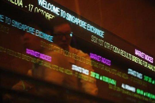 Bursa saham Singapura berakhir 0,3 persen lebih rendah