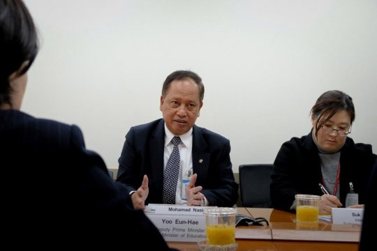 Kunjungi Seoul, Menristekdikti bahas pengembangan universitas siber