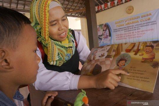 "Belasan relawan gelar simulasi ""Bakti Literasi Desa"""